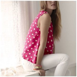 Anthropologie Pink Dot Swirl Top